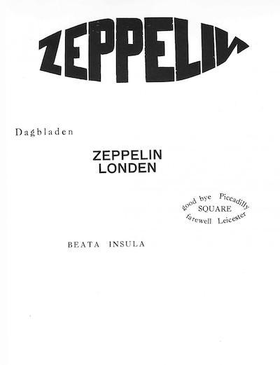 Zeppelin: gedicht van Paul Van Ostaijen